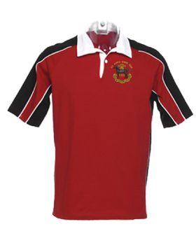 23 AMPH ENGR SQN Short Sleeve Rugby Red/Black 2XL Shirt